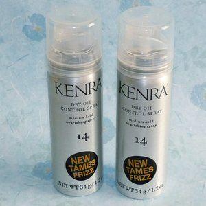 (2) pc Kenra #14 Dry Oil Control Spray Tames Frizz